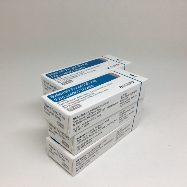 Sildenafil 25mg tablets -24 pack